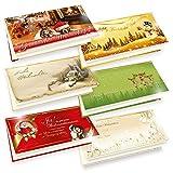 6 x 5 Weihnachtskarten Klappkarten Grußkarten Set Frohe Weihnachten mit Umschlag
