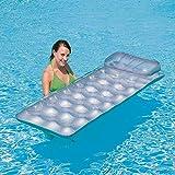 Myself-Inflatable floating row Agua Inflable Cama Individual Flotante Fila Flotante Cojín Inflable Verano Piscina de Playa Playa Flotante Decoración de La Piscina Niños Adultos Pareja