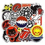 SparkTime Autocollants Rock & Roll [Lot de 50] Stickers Rock & Roll
