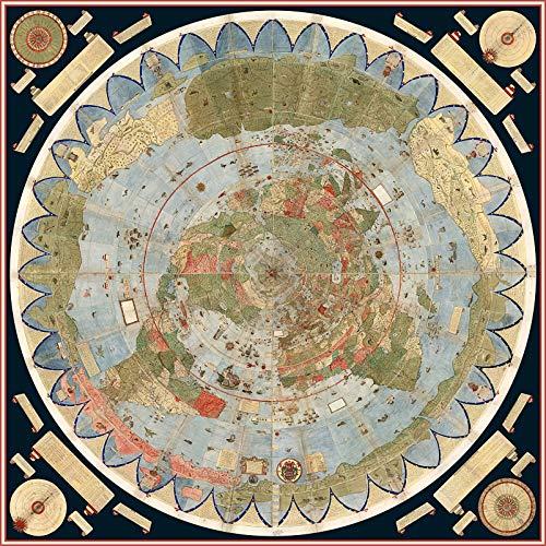 """Riley Creative Solutions 1587 Wandposter Weltkarte Urbano Monte (englischsprachig), 3 Größen 23""""x23"""""""