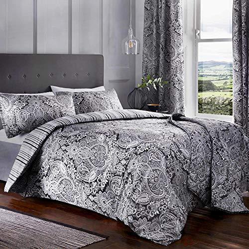 Dreams & Drapes Maduri Parure de lit 52% Polyester, 48% Coton, Noir, Double