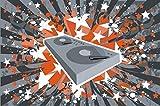 Indigos 4051719935035 Wandtattoo MD204 es ist meine Musik 60 x 39 cm, bunt farbig