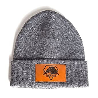 METAL GEAR SOLID The Phantom Pain Diamond Dogs Brown Patch Logo Folded Brim - Bonnet - Mixte - Gris (Grey) - Taille unique (Taille fabricant: One size)