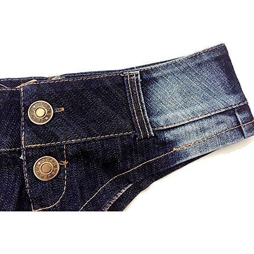 Outgobuy Sexy Low Waist Triangle Denim Short Mini Shorts Hot Pants Navy