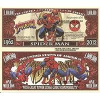 Novelty Dollar Spider Man Peter Parker Amazing Adventures Dollar Bills x 2 Comic Book 1962 2012