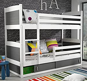 RICO 2 BUNK BED 200x90 white colour with mattresses - Free P&P