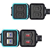 JJC Speicherkarten Tasche Wasserdicht Schutzhülle für 4 SDXC SDHC SD-Karten und 4 Micro SD-Karten TF Karten mit Antilost…