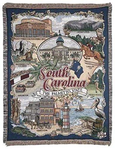 Zwergpalme South Carolina 'Mitgliedstaat' Gobelin-Decke 127.00 cm x 152.40 cm