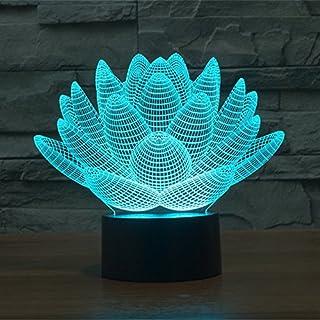 Alisable 3D Lampe Lotus Awaken bb-8 Nacht 7 Farbwechsel Best Geschenk Nachtlicht LED Einrichten Schreibtisch Tisch Beleuchtung Home Dekoration Spielzeug