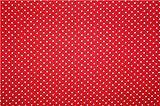 0,5m Stoff Punkte klein Rot/ Weiß