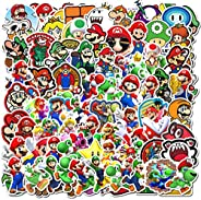 100Pack Super Mario Bros Stickers Set Random Sticker Decals for Water Bottle Laptop Cellphone Bicycle Motorcyc