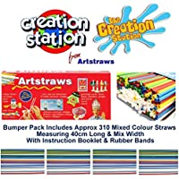 Artstraws Long, Pack of 300, Assorted Colours preiswert