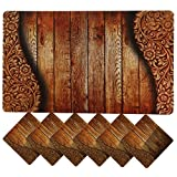 #8: Clasiko 6 Piece PVC Dining Table Placemats With Tea Coasters