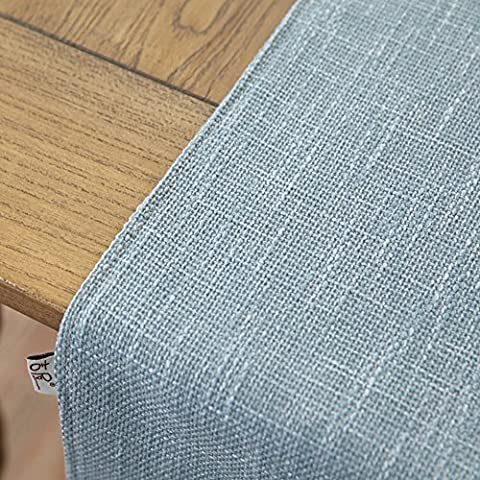 Modern Und Schlicht Einfarbig Feste Baumwolle, Leinen Tischläufer,Tischläufer-B 35x160cm(14x63inch)