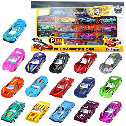 Coches Miniatura Vehículos de Juguete Metalicos Maquetas Carrera Juguetes Niños 3 4 5 Años 16 Pedazos Modelos Variados