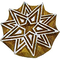 Indian Wood Block Kunst Dekorative Briefmarken Blockprint Stern Handcarved Drucktype