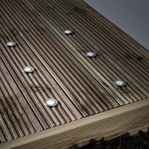 6er Set LED Solar Bodeneinbaustrahler Weiß Lights4fun