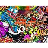 Fototapete Graffiti Streetart Vlies Wand Tapete Wohnzimmer Schlafzimmer Büro Flur Dekoration Wandbilder XXL Moderne Wanddeko - 100% MADE IN GERMANY - Runa Tapeten 9068010a