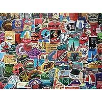 Lote de pegatinas, etiquetas hotel retro, vintage, viajes, travel, Acuerdo, maleta, aerolínea, doodle, equipaje, Calcomanía Decorativa (100)