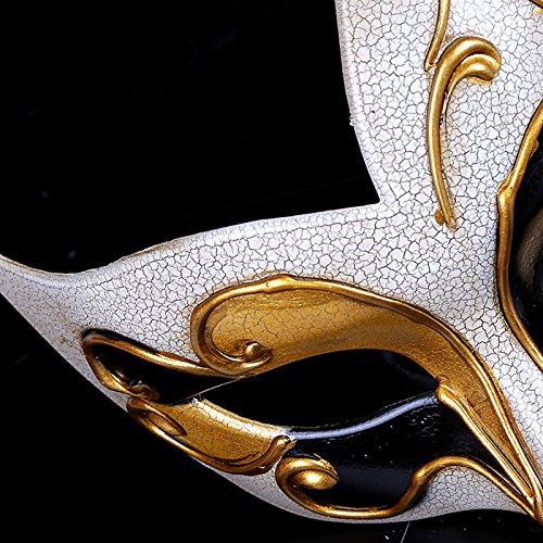 Maschera di modellazione della fiamma di Venezia crepa Maschera da donna  Maschera di carnevale di festa festa spettacolo (oro) 86a160a6812c