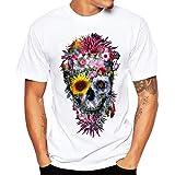 K-youth Camiseta Hombre, Cráneo Impresión tee Cuello Redondo Tops Camisa Ropa Hombre Barata Deportiva 2018 Ofertas