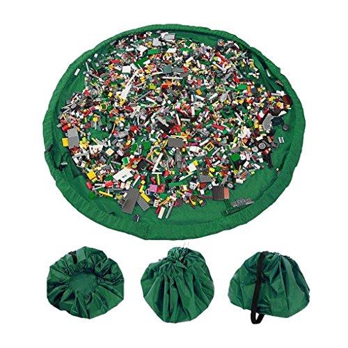 Preisvergleich Produktbild Storage Organizer Tasche jecxep 152,4cm Kinder Matte Toys Organizer Tasche Schnell Halter Pouch Grün
