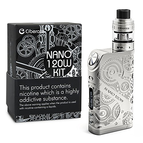 Ciberate® TG 120W E Cigarettes Sub-Ohm 0.15 2ml Tank Adjustable Airflow Electronic Cigarette Vape Box Mod Complete Kit Steampunk Style (120W kit)