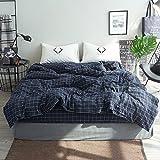 Kexinfan Bettbezug Mix und Waschen Baumwolle Vierteilige Anzug Bettlaken Bett 笠 Baumwolle Bettwäsche, Bett, E, 2,0 M (6,6 Ft) Bett