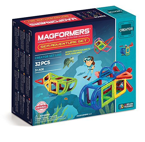 Magformers Adventure Sea 32-Piece Building Set