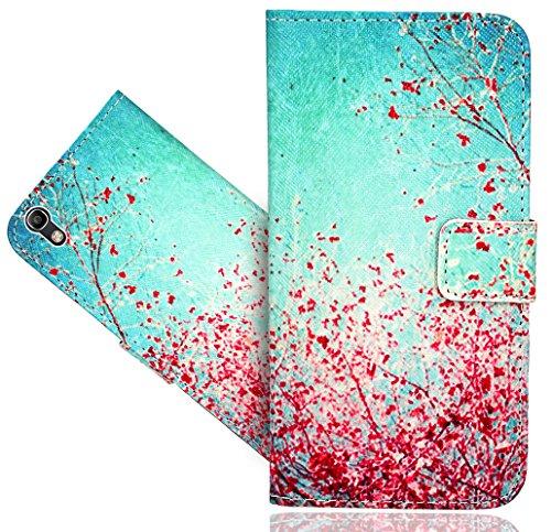 Alcatel Idol 4 (5.2 inch) Handy Tasche, FoneExpert® Wallet Case Flip Cover Hüllen Etui Hülle Ledertasche Lederhülle Schutzhülle Für Alcatel Idol 4 (5.2 inch)