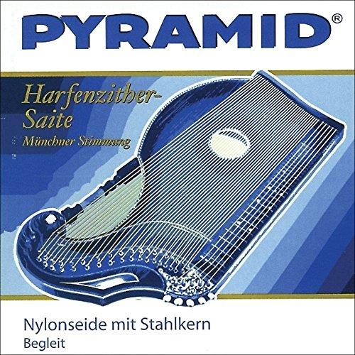 PYRAMID Zither-Saiten Satz Begleitsaiten,12-saitig, Stahlkern- Münchner Stimmung