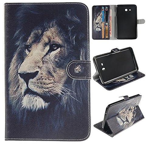 Skytar Samsung Tab 3 7.0 Lite Case,Hülle Samsumg Tablet SM T110 - PU Leder Cover Case Stand Schutzhülle Flip Etui Tasche für Samsung Galaxy Tab 3 7.0 Lite (SM-T110 / T111 / T113 / T116) Tablet Hülle Schutzhülle