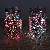 1 Stück Solarleuchten Solar Mason Jar Lids Licht, Dekorative Leuchten 10 LED Multi Farbe Lichter String für Hochzeit Weihnachten Urlaub Party Beleuchtung