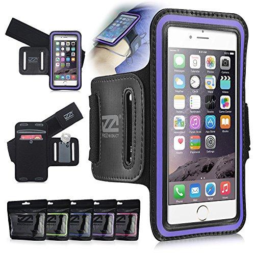 CASEiLIKE ® Lila , DURstriker 9938, Dual-Slot-Sportarmband mit Kreditkarte / ID und Key-Slots-Halterung für Apple iPhone 6 4.7