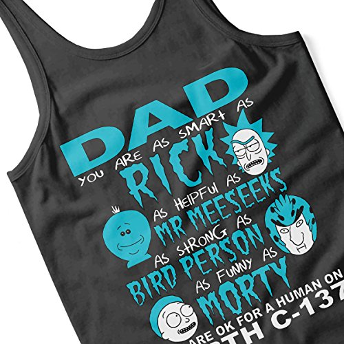 Rick And Morty Father Day Dad You Are Men's Vest Black