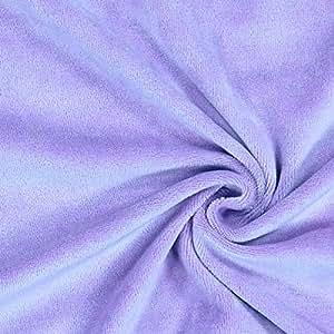 Tissu velours éponge jersey, vendu au mètre/ Uni Parme Réf 69225 - Avenue des Tissus