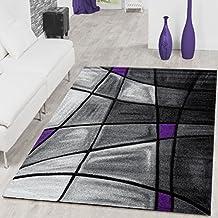 ALFOMBRAS Salón PHC Alfombra Porto Lila gris antracita Liquidación, 160 x 230 cm