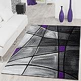 Rug Living Room Rug Porto Purple Grey Charcoal Clearance Sale, 160x230 cm
