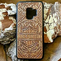 Harley Davidson Phone Case for iPhone XR/XS Max/X / 8/7 / 6 / 6S Plus, Samsung Galaxy Note 9 / S9 / S10 Cover, Real Wood Ultra Slim Carved