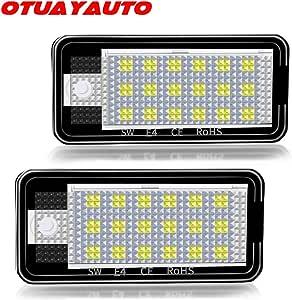Led Kennzeichenbeleuchtung Otuayauto Kennzeichen Led Nummernschildbeleuchtung Für A3 8p A4 B6 B7 A6 4f Auto