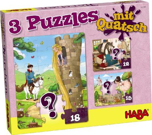 Haba 300184 - Puzzle (3 Piezas), diseño de Cuento de Hadas
