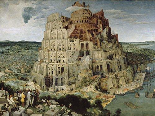 Artland Alte Meister Premium Wandbild Pieter Brueghel d.Ä. Bilder Poster 45 x 60 cm Der Turmbau von Babel Kunstdruck Wandposter Manierismus R2PE