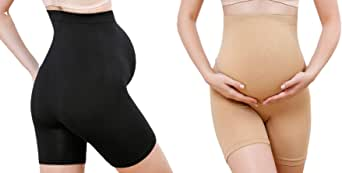 OMG_Shop Womens Seamless Maternity High Waist Mid-Thigh