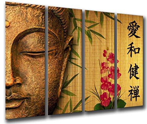 Cuadro Buda fotografico Base Madera, 131 x 62 cm, Buda, Buddha, Relax, Zen, Meditacion Ref. 26066