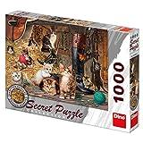 Dinotoys 532380 Hoher Qualität Puzzle;Geheime Sammlung Katzen, 1000 Stück