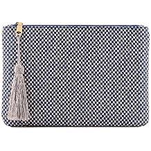 OTTO Pochette di Design da Donna in tessuto con Nappina sulla Zip 8de480f7be0