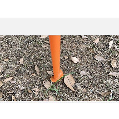 LIOOBO Sonnenschirm Sand Anker einstellbar Strandschirm Spike Schirmständer Halter für Angelrute Sun Beach Garden Patio (Orange) - Patio-regenschirm-halter