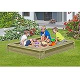 Sandkasten 180 x 180 x 30 cm aus Holz 30 mm imprägniert von Gartenpirat®