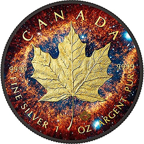 HELIX NEBULA Maple Leaf Space Collection 1 Oz Silver Coin 5$ Canada 2016 Moneda