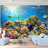 Fototapete Aquarium 308 x 220 cm - Vliestapete - Wandtapete Wandbild Dekoration Unterwasserwelt Meer Ozean Fische Korallen Korallenriff UNDERWATER WORLD !!! MADE IN GERMANY !!! Runa Tapete 9073010a